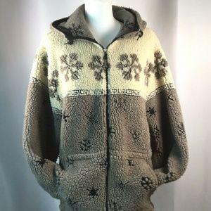 Woolrich~Full Zip~Hooded~Sherpa~Hooded~Coat~Jacket